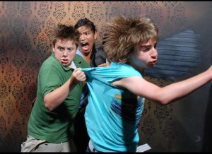 running scared, haunted house attration