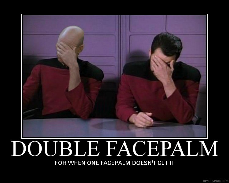 Double Facepalm Star Trek Fail